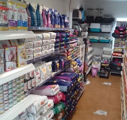 Wnętrze sklepu zoologicznego Pako